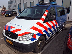 Law enforcement in the Netherlands - Mercedes van used by the KMar