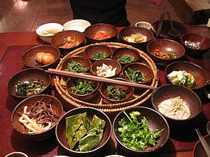 Buddhist vegetarianism - Buddhist influenced Korean vegetarian side dishes