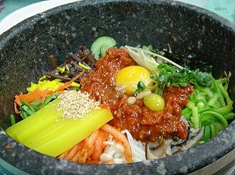 Nokdu-muk - Image: Korean cuisine Jeonju bibimbap 02