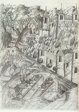 Kozelsk - Kozelsk siege in 1239 by Batu Khan