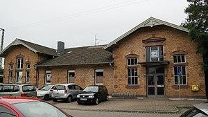 Krefeld-Uerdingen station - Station building (out of use, Sept. 2015)