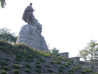 Battle of the Seelow Heights - Soviet monument at the Seelow Heights.