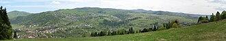 Krościenko nad Dunajcem - Panoramic image of Krościenko nad Dunajcem