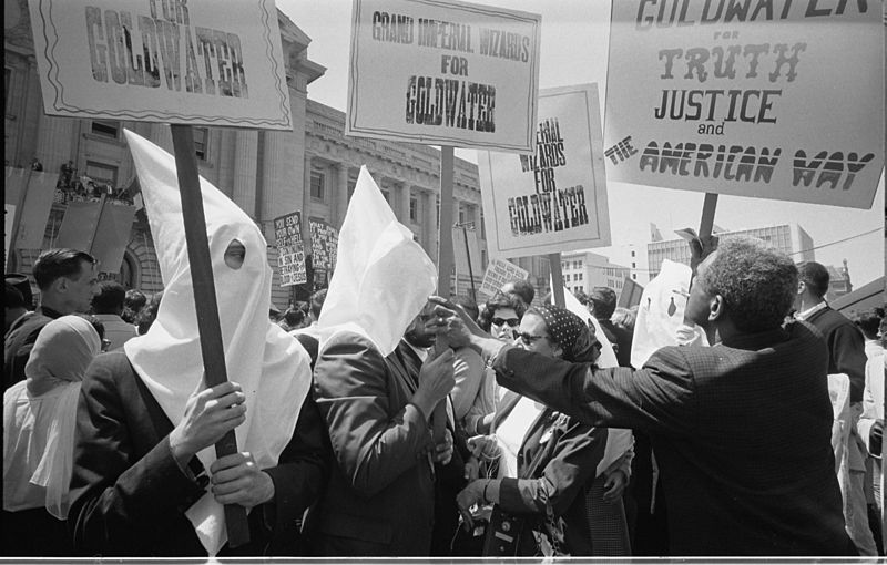 Ku Klux Klan with Barry Goldwater%27s campaign signs 03195u original.jpg