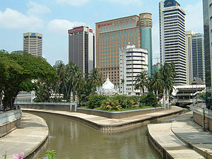 History of Kuala Lumpur - The junction of the Gombak and Klang rivers, from which Kuala Lumpur takes its name