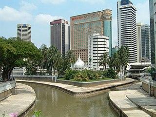 Klang River river in Malaysia