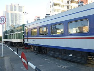 Kunming–Haiphong railway - A commuter train on a Kunming North - Wangjiaying run in 2016