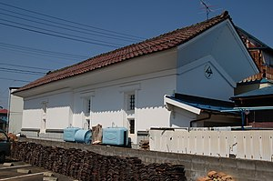 Kura (storehouse) - Kura in Kitakata illustrating protective plasterwork at eaves level
