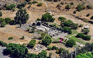Kursi, Golan Heights - Aerial view of the site
