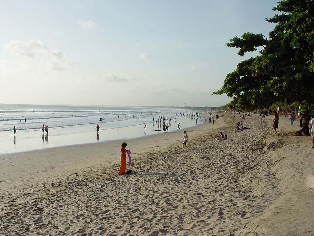 View of Kuta Beach in Bali