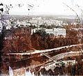 Látkép a Fellegvárból, előtérben az Erzsébet híd a Szamos folyón. Fortepan 87006.jpg