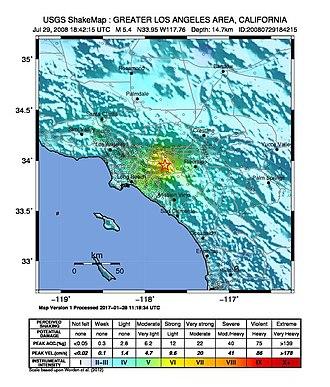 2008 Chino Hills earthquake - Image: LA Earthquake July 29 2008