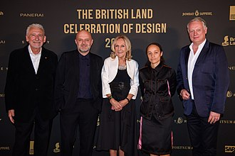 London Design Festival - London Design Medal Winners 2018: Hussein Chalayan, Eva Jiricna and Grace Wales Bonner pictured with London Design Festival Co-Founders Sir John Sorrell and Ben Evans. Not pictured is Neri Oxman.