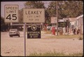 LEAKEY, A SMALL TOWN NEAR GARNER STATE PARK, DERIVES MUCH OF ITS INCOME FROM SUMMER TOURISTS AND FALL DEER HUNTERS - NARA - 546213.tif