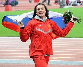 Е.Г. Исинбаева на Лондонской Олимпиаде 2012 года