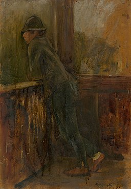Ladislav Mednyánszky - Boy on the Porch - O 2823 - Slovak National Gallery