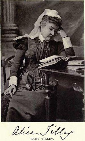 Samuel Leonard Tilley - Image: Lady Alice Tilley by William James Topley
