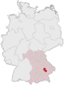 Lage des Landkreises Landshut in Deutschland.png