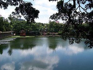 Geography of Thrissur - A view of Vadakkechira, Thrissur pond.