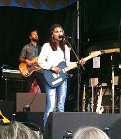 Laleh performing at Landskrona in 2010