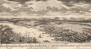 Landing at Humlebæk - the Landing on Humlebæk August 4, 1700