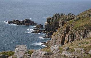 Lands End cape in Cornwall, England