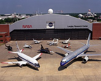 Langley Research Center - A variety of research aircraft at NASA Langley in 1994