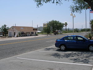 Langtry, Texas - Main Street in Langtry