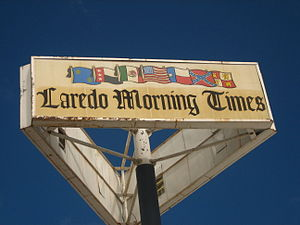 Laredo Morning Times - The Laredo Morning Times displays seven flags which have flown over the Laredo area during its history.