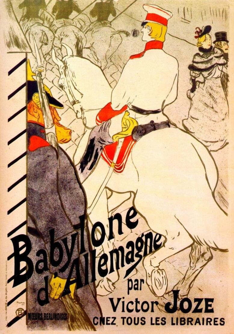 Lautrec babylone d'allemagne (poster for 'the german babylon') 1894