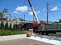 Laying new spans on the Harvard Street bridge, July 2015.JPG
