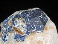 Lazurite et phlogopite sur calcite (Sar-e-Sang, Koksha Valley, Badakshan - Afghanistan) 1.JPG