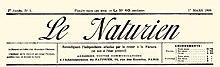 The Naturien, título del primer número del 1 de marzo de 1898.