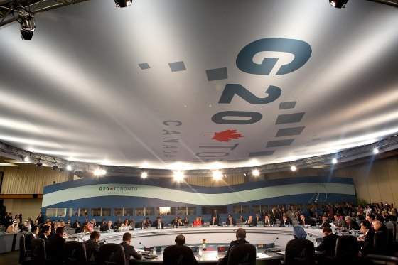 Leaders at the 2010 G-20 Toronto summit