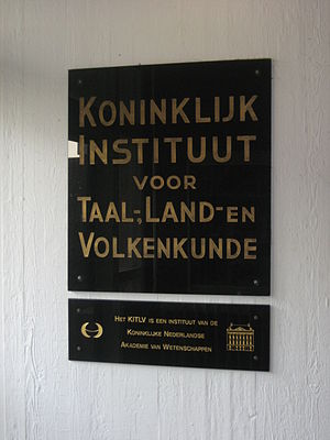 Royal Netherlands Institute of Southeast Asian and Caribbean Studies - Plaque KITLV