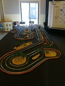 plastic track created for charity event
