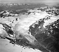 Lemon Creek Glacier, mountain glacier terminus with firn line, and icefield, 1965 (GLACIERS 5993).jpg