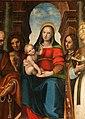Leonardo Malatesta, Madonna col Bambino tra i santi Pietro, Sebastiano, Cosma, Silvestro e Giovannino, 1518, 06.jpg