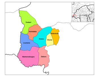 Sindou Department location in the province