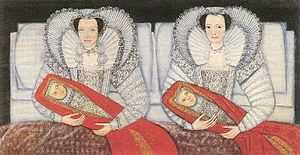 Sir Richard Grosvenor, 1st Baronet - Lettice, Lady Grosvenor, and her sister, Mary, Lady Calverley, ca. 1604