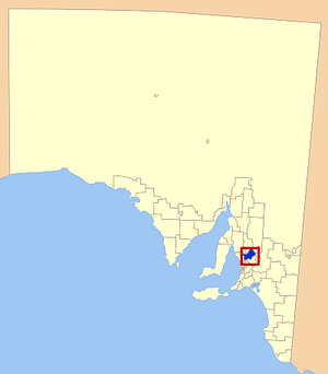 Light Regional Council - Location of Light Regional Council in blue