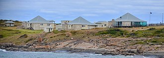 Cape Leeuwin - Cottages from the east, Cape Leeuwin