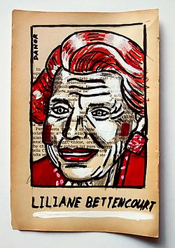 Liliane Bettencourt Portrait Painting Collage By Danor Shtruzman.jpg
