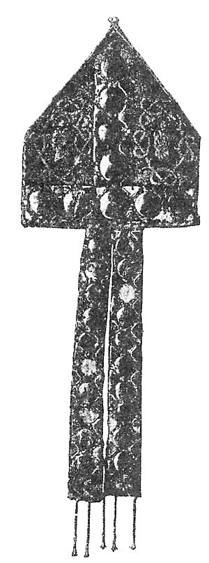 Kettil Karlsson (Vasa) - Mitre of Kettil Karlsson as Bishop of Linköping. The original is exhibited in Statens historiska museum in Stockholm.