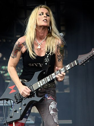 Lita Ford - Ford performing on 27 June 2009.