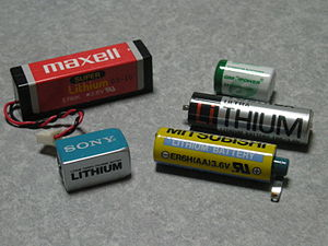 Thionyl chloride - A selection of lithium–thionyl chloride batteries