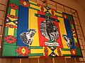 Little world, Aichi prefecture - African plaza - Fabric with a portrait of Ndebele King - South Africa - Collected in 2007.jpg