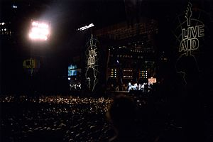 Live Aid - Live Aid under the lights at John F. Kennedy Stadium