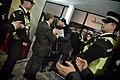 Llegada al John Mackintosh Hall de Fabián Picardo en la mañana en que se conocerán los resultados de las elecciones generales de Gibraltar (22720120914).jpg