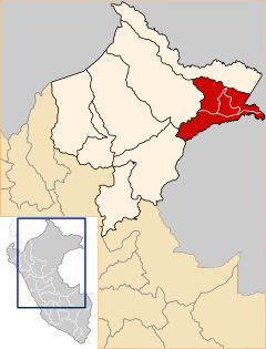 Location of the province Mariscal Ramón Castilla in Loreto.svg